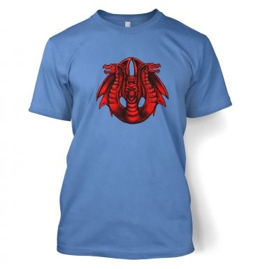 Three Headed Dragon men's t-shirt