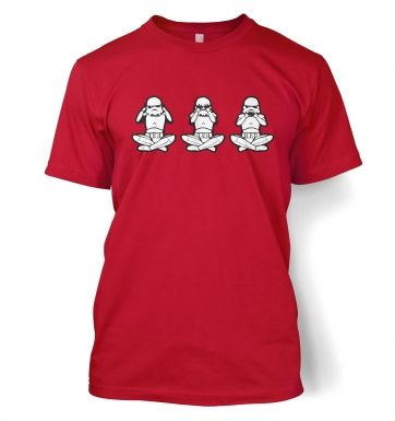 Three Wise Stormtroopers men's t-shirt