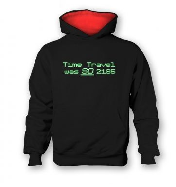 Time Travel Was So 2185 kids' hoodie (contrast)
