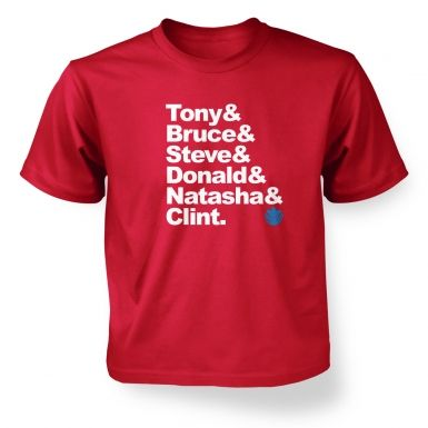 Tony and Bruce and Kids T shirt The Avengers