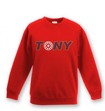 Tony Arc Reactor Kids Sweatshirt