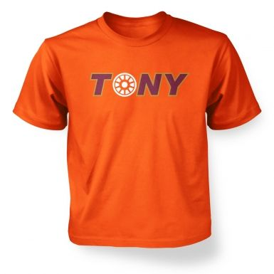 Tony Arc Reactor kids t-shirt