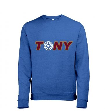Tony Arc Reactor Adult Mens Heather Sweatshirt