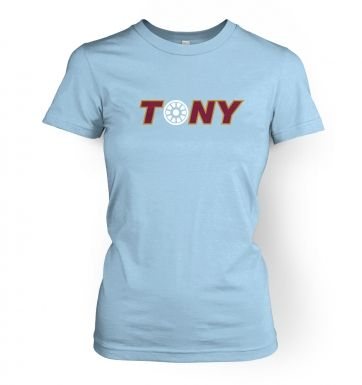 Tony Arc Reactor women's t-shirt