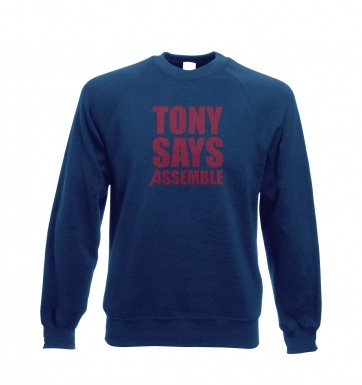 Tony Says Assemble sweatshirt
