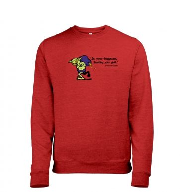 Treasure Goblin heather sweatshirt