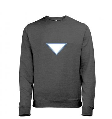 Triangular Power Cell heather sweatshirt