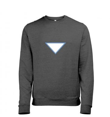 Triangular Power Cell Adult Mens Heather Sweatshirt