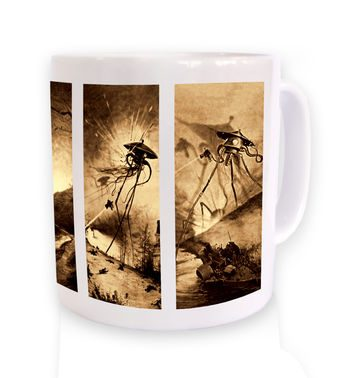 Triptych War Of The Worlds mug