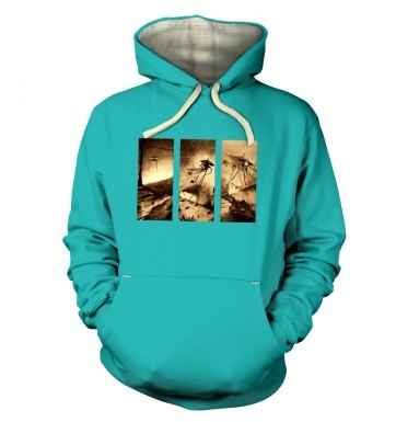 Triptych War Of The Worlds premium hoodie