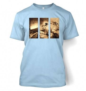 Triptych War Of The Worlds t-shirt