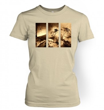 Triptych War Of The Worlds women's t-shirt