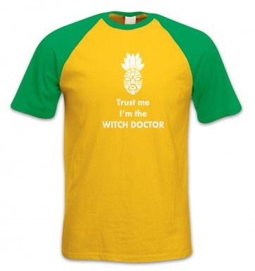 Trust The Witch Doctor short-sleeved baseball t-shirt