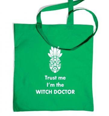 Trust The Witch Doctor tote bag