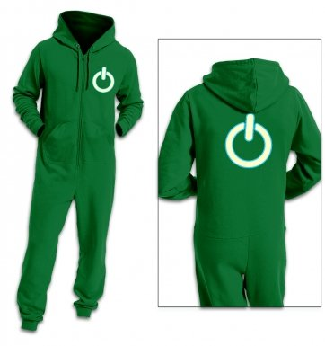 Power symbol (glow in the dark) adult premium warm onesie