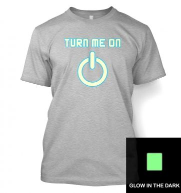 Turn Me On Power Symbol Glow In The Dark t-shirt