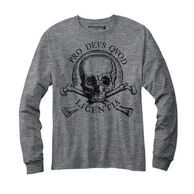Uncharted 4 Skull long sleeve t-shirt - Official