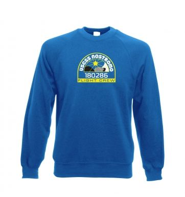 USCSS Nostromo Crew Badge  - Adult Crewneck Sweatshirts