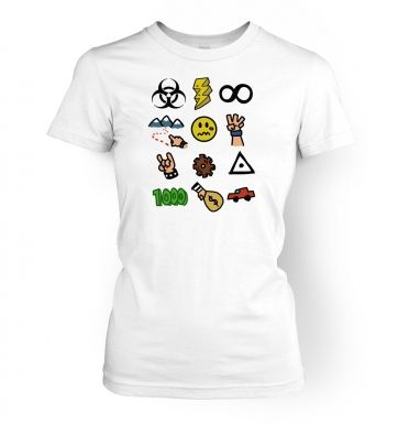 Video Game Picture Quiz women's fitted t-shirt