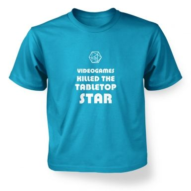 Videogames Killed The Tabletop Star RPG kids' t-shirt
