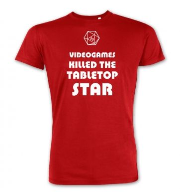 Videogames Killed The Tabletop Star RPG premium t-shirt