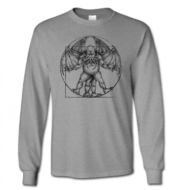 Vitruvian Cthulhu long-sleeved t-shirt