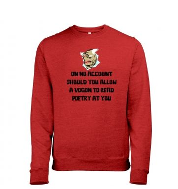Vogon Poetry heather sweatshirt