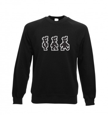 Walking Pixel Guy sweatshirt