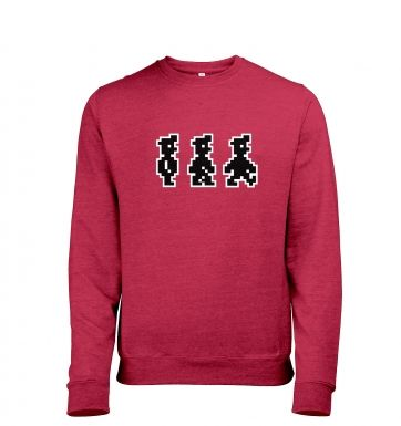 Walking Pixel Guy men's heather sweatshirt