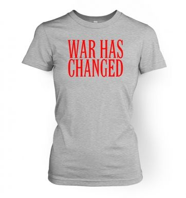 Metal Gear Solid 4 review, and War Has Changed  womens t-shirt