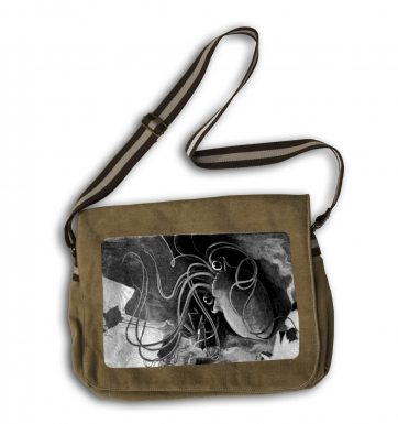 War Of The Worlds Vintage Martian messenger bag