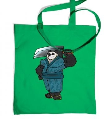 Warrior Panda tote bag