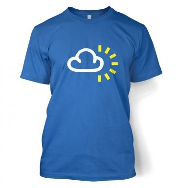Weather Symbol Cloudy with Sun t-shirt