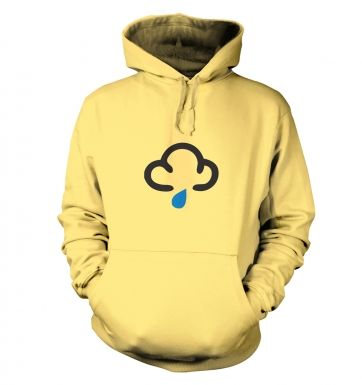 Weather Symbol Dark Clouds with Showers hoodie