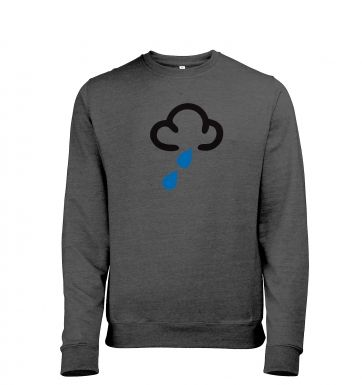 Weather Symbol Dark Clouds with Showers Mens Heather Sweatshirt
