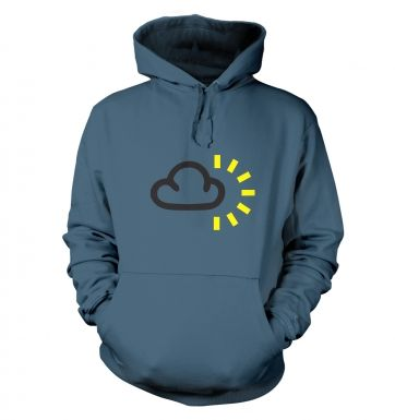 Weather Symbol Dark Clouds with Sun hoodie