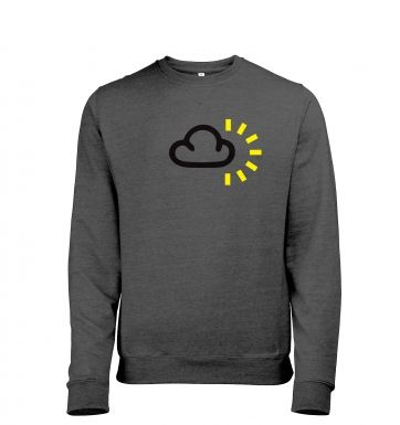 Weather Symbol Dark Clouds with Sun heather sweatshirt