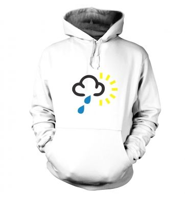 Weather Symbol Heavy Rain with Sun hoodie