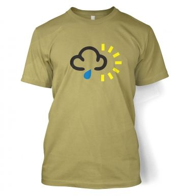 Weather Symbol Rain with Sun t-shirt