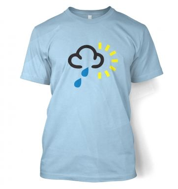 Weather Symbol Heavy Rain with Sun t-shirt