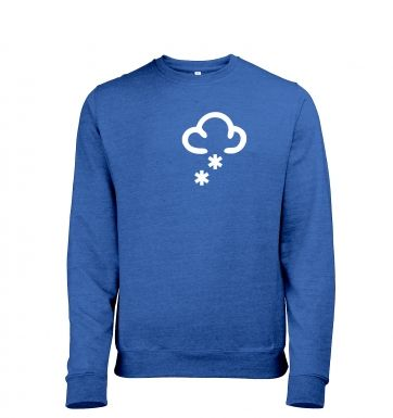 Weather Symbol Snow Mens Heather Sweatshirt