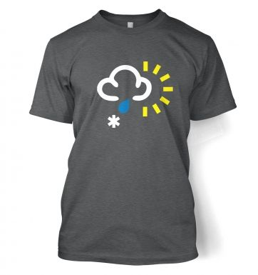 Weather Symbol Snow with Rain and Sun t-shirt