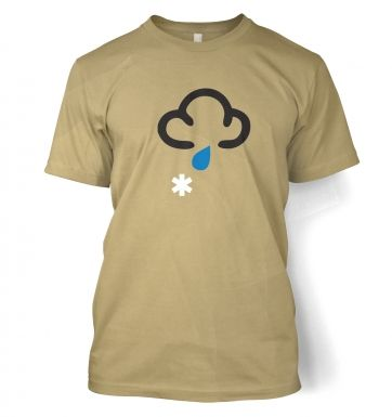 Weather Symbol Snow with Rain t-shirt