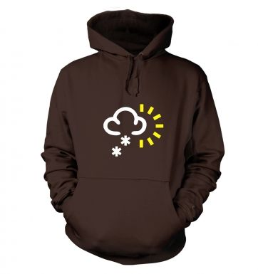 Weather Symbol Snow with Sun hoodie