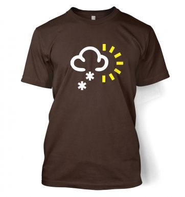 Weather Symbol Snow with Sun t-shirt