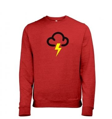 Weather Symbol Thunderstorms Mens Heather Sweatshirt