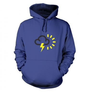 Weather Symbol Thunderstorms with Sun hoodie