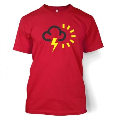 Weather Symbol Thunderstorms with Sun t-shirt