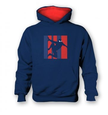 Web Slinger kids contrast hoodie Inspired by Spiderman