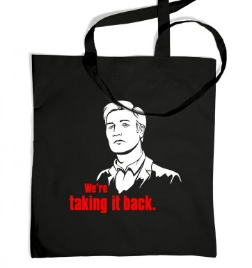 We're taking it back tote bag